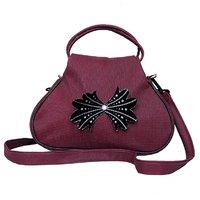 Zakina Maroon Attractive Women Sling Bag ( ZE09 )