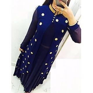 Women's Cotton Silk Kurti black