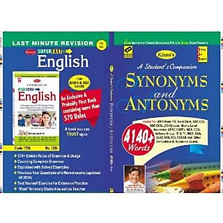 Kiran's Synonyms and Antonyms (English)
