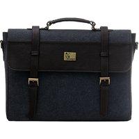 Rivet Men's Laptop Bag (Grey  Brown)