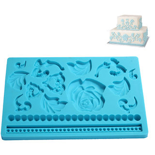 Futaba Rose Shape Silicone Stamping Die Sugar Flower Art Mould