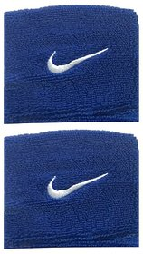 Sports Wrist Band Supporter Sweat Band Blue - 1 Pair