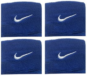 Sports Wrist Band Supporter Sweat Band Blue - 2 Pair