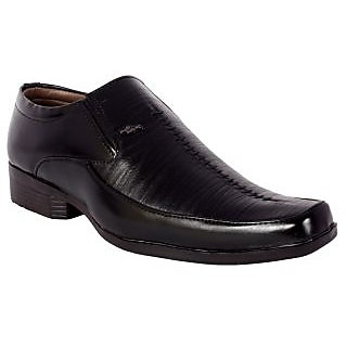 Shoeadda Mens Black Slip on Formal Shoes