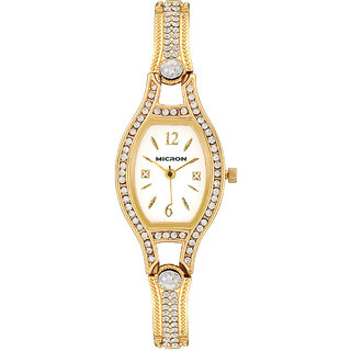 Firstrace Round Dial Silver Metal Analog Watch- For Women