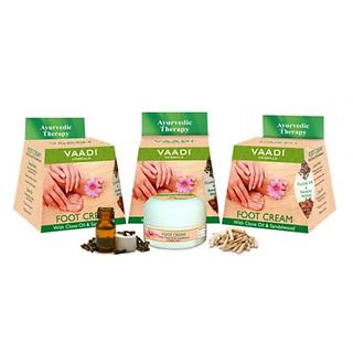 Vaadi Herbal Foot Cream with Clove Sandal Oil (Pack of 3)
