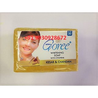 GOREE WHITENING SOAP WITH KESAR AND CHANDAN.