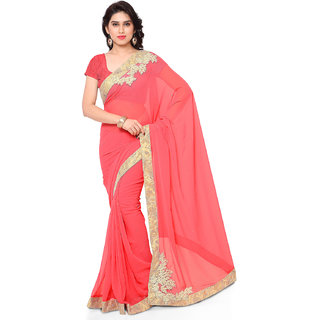 Melluha Georgette Moti Work Saree For Wedding,Party With Blouse Piece