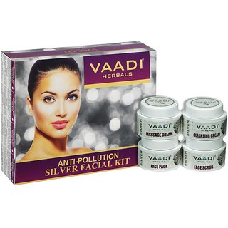 vaadi herbals Silver Facial Kit - Pure Silver Dust, Rosemary  lavender Oil, Sandalwood Paste