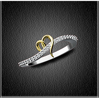 Natural Diamond Studded Ladies Ring In 18Kt Gold