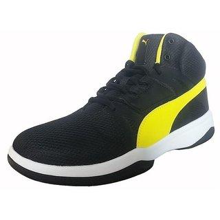 buy puma men black laceup casual shoes online  ₹5999