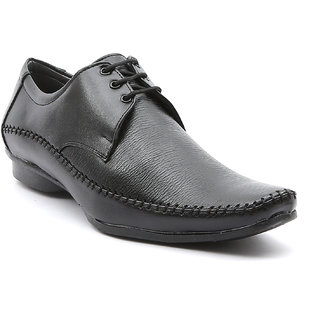 Ajanta Men's Black Lace-up Formal Shoes