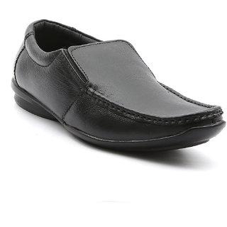 Ajanta Men's Black Open Formal Shoes