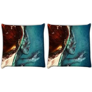 Snoogg Abstract Painting Digitally Printed Cushion Cover Pillow 22 x 22 Inch