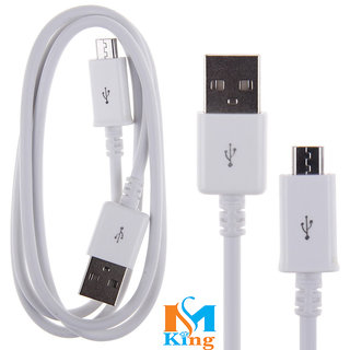 Micromax Canvas Tab P290 Compatible Android Fast Charging USB DATA CABLE White By MS KING