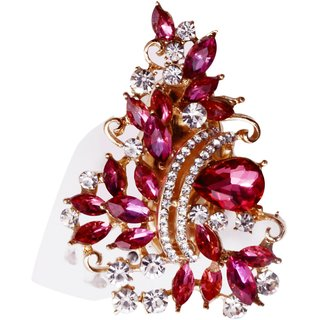 Mansiyaorange Pink Alloy Gold Plated Brooches For Women