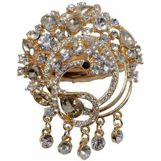 Mansiyaorange Gold Alloy Gold Plated Brooches For Women