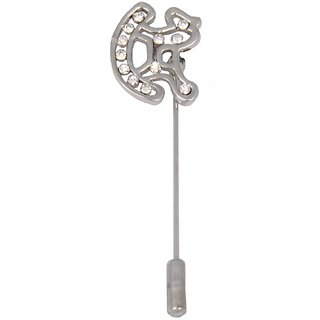 WOAP Silver Non Plated Alloy  Lapel Pin