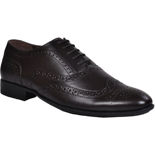 Ajanta Men's Brown Lace-up Formal Shoes