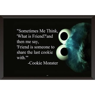 Hungover Cookie Monster Quote Special Paper Poster