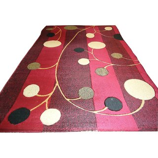 Imran Carpets Prested by Synthetic Multicolor Home made Designer Carpet Alikanta-4x6-21
