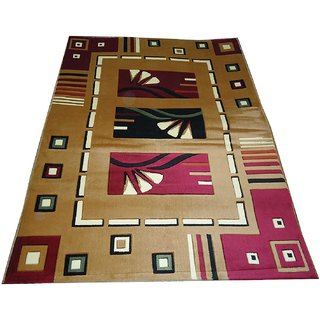 Imran Carpets Prested by Synthetic Multicolor Home made Designer Carpet Alikanta-5x7-17