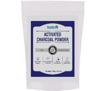 Healthvit Activated Charcoal Powder 250gms(pack of 2)