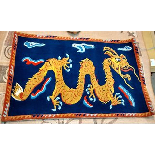 Imran Carpets Prested by Synthetic Multicolor Home made Designer Carpet Animal-carpets-3