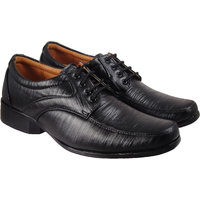 Action Synergy Men's PN9913 Black Formal Shoes