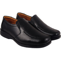 Action Synergy Men's P13040 Black Formal Shoes