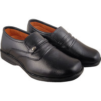 Action Synergy Men's P1302 Black Formal Shoes