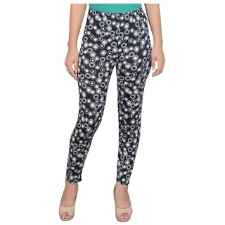 Diamond Fashion Multi Color Floral Printed Cotton Lycra Leggings for Girls/Women