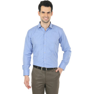 ZIDO Blue Slim Fit  Men  Shirt DBY1353Blue