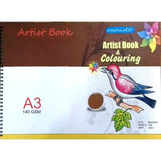 ARTIST DRAWING BOOK SIZE A3 (38 X 28 cm)