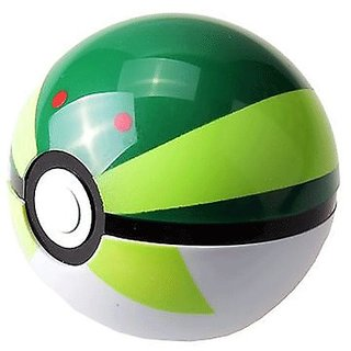 POKEMON FRIEND BALL WITH RANDOM TOY (GREEN,BLACK WHITE COLOUR )