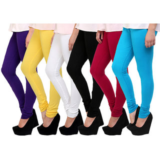Aashish Garments Pack of 6 Cotton Lycra Leggings