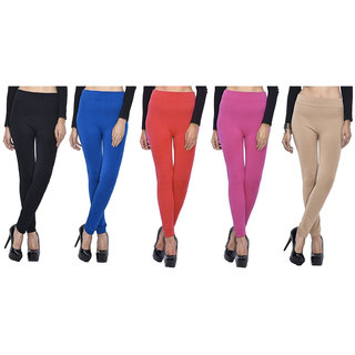 Aashish Garments Pack of 5 Woollen Leggings