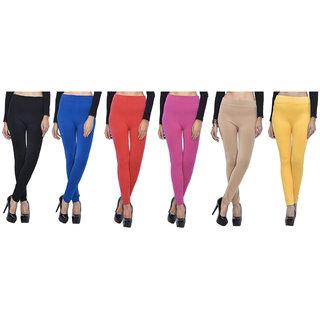 Aashish Garments Pack of 6 Woollen Leggings