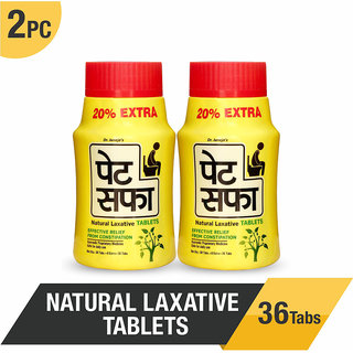 Pet Saffa Natural Laxative Tablets for Constipation-36 Tablets (Pack of 2)