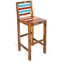 Shop Sting Kelsie indian reclaimed wood Bar Chair