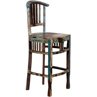 Shop Sting Rustic indian reclaimed wood Bar Chair