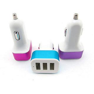 3 Usb Port Car Charger Amp Out 5v 1 For Mobile Tablet
