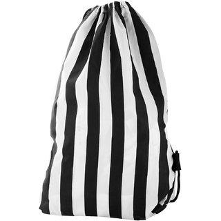 Roadeez 2.5 Litres Black and White Drawstring Bag (BG-PRINT-LINING)