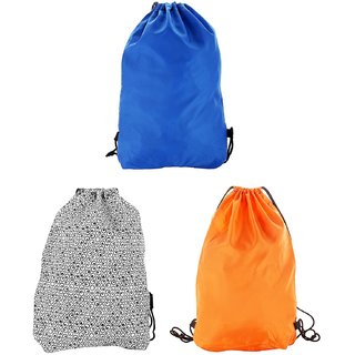 Combo Pack of -3 Multi-Colour 2.5 Litres Drawstring Bag (BG-COMBO-MIX-3)