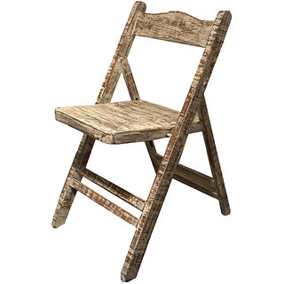 Shop Sting Kelsie indian reclaimed wood Folding Chair