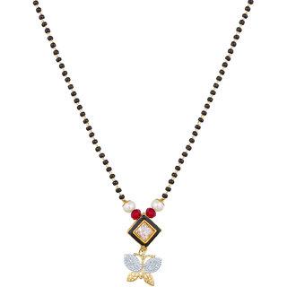 The Luxor Attractive Regular Wear Australian Diamond Studded Mangalsutra