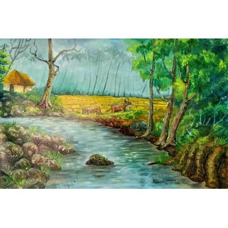 paintingvillage stream A4 print