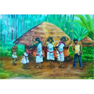 Paintingtribal dance wayanad A4 print
