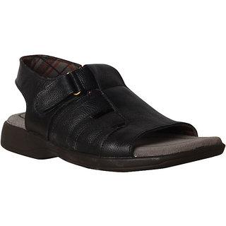 Bata Men Black Velcro Sandals