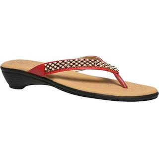 Bata Women's Red Flats